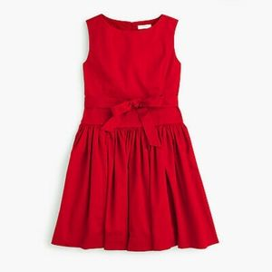 J.Crew CrewCuts red dress with gold zipper!
